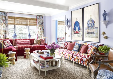 Mark D. Sikes Colorful Living Room