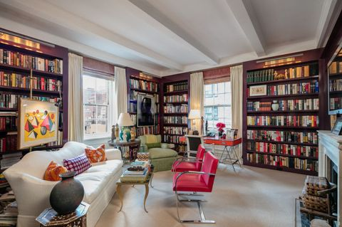 ina garten, nyc apartment library