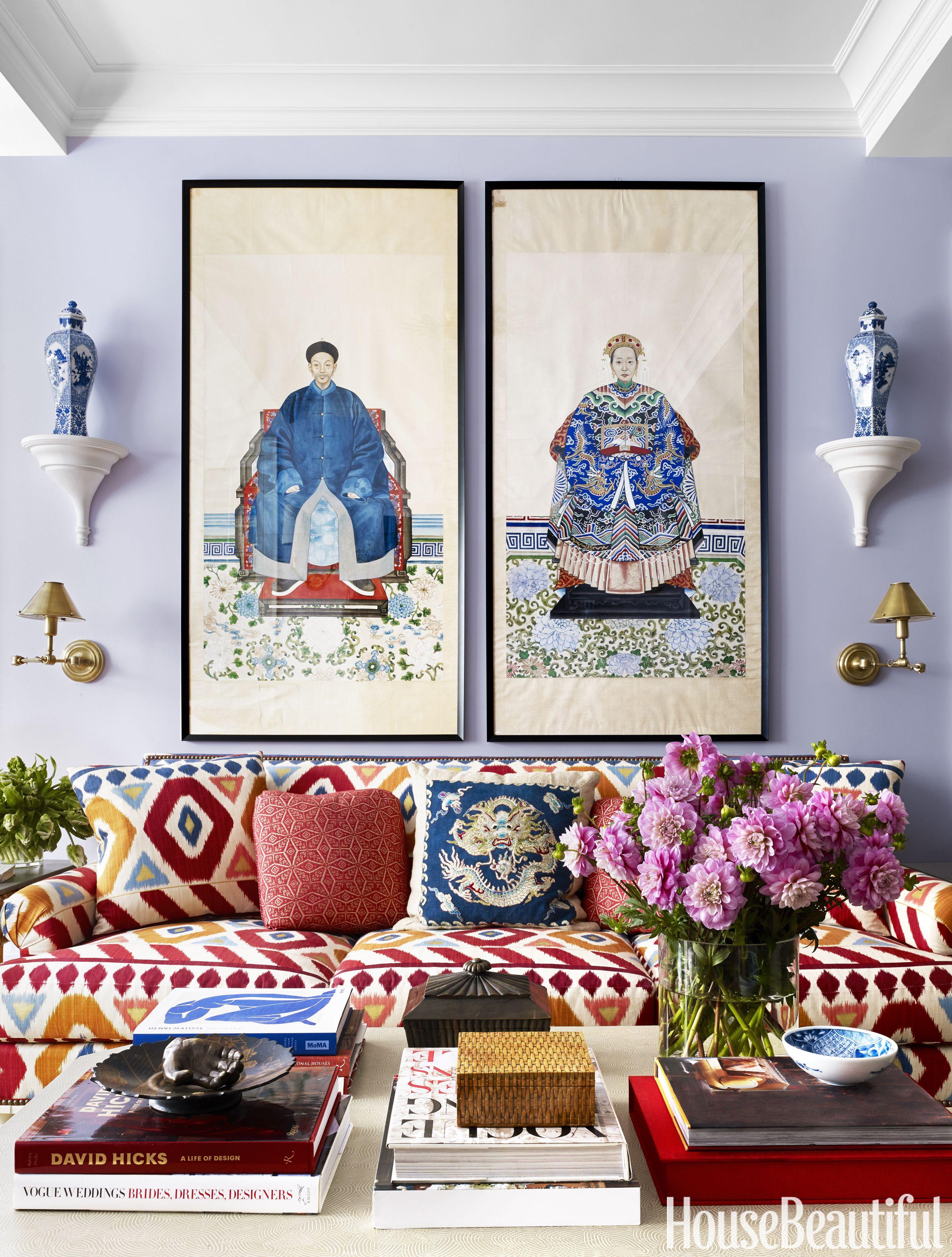 Mark D. Sikes Purple Living Room