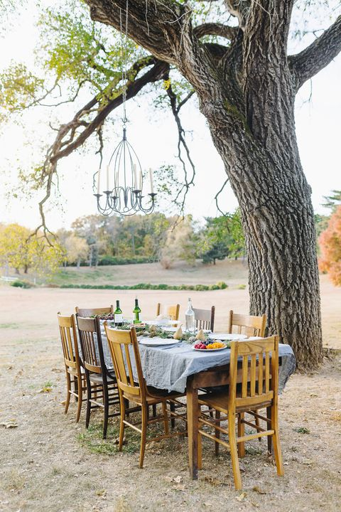 fall dinner party setting