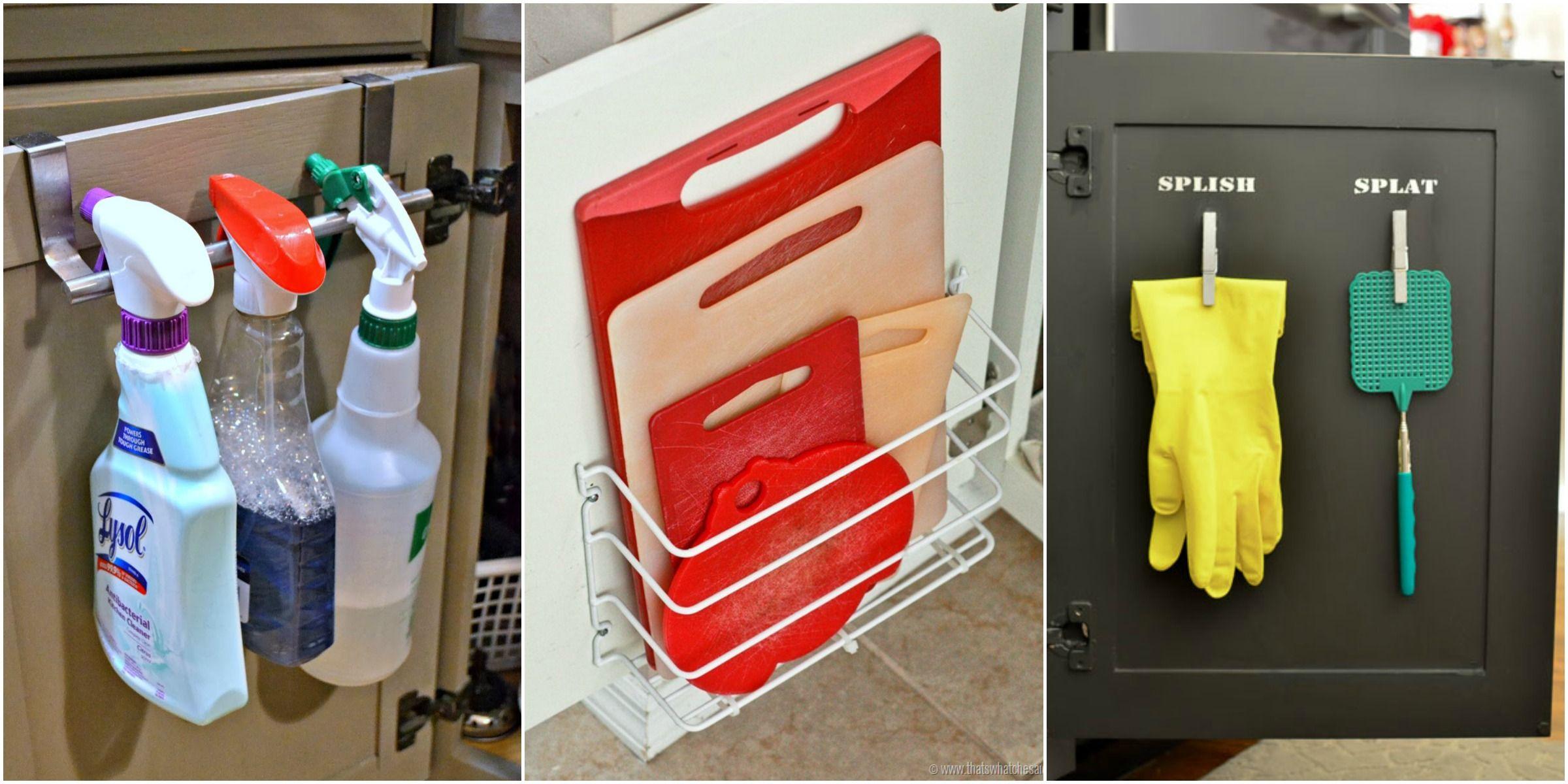 Cabinet Door Storage Ideas Organization Tricks For Cabinets