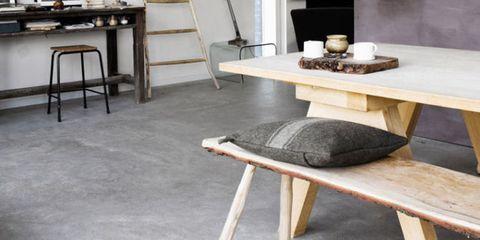 Floor, Room, Table, Flooring, Interior design, Grey, Beige, Natural material, Marble, Sofa tables,