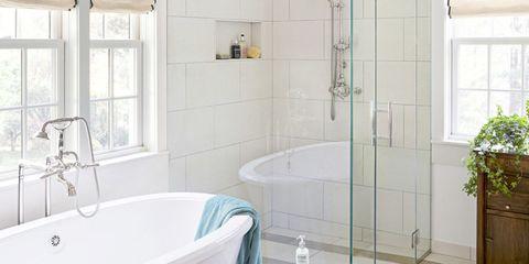 Plumbing fixture, Floor, Room, Flooring, Architecture, Interior design, Property, Bathtub, Tile, Wall,