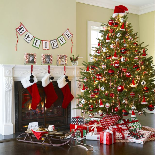 How To Decorate A Christmas Tree Professionally With Ribbon.56 Christmas Tree Decoration Ideas Pictures Of Beautiful