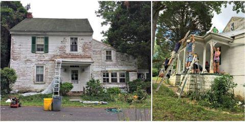 couple renovates neighbor's deteriorating house