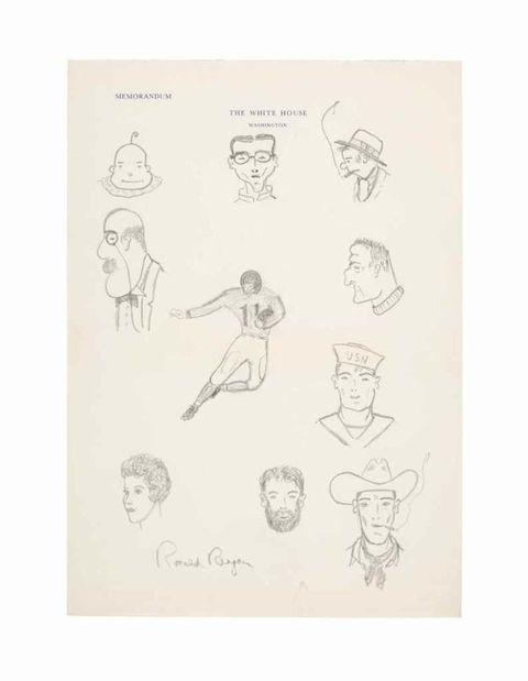 reagan family auction doodles