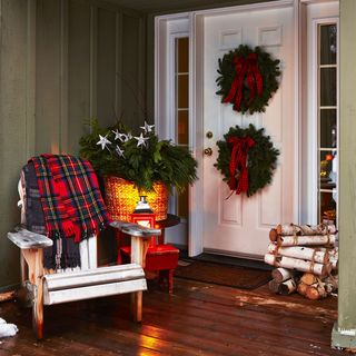 outdoor christmas decorations - Homes Decorated For Christmas On The Inside