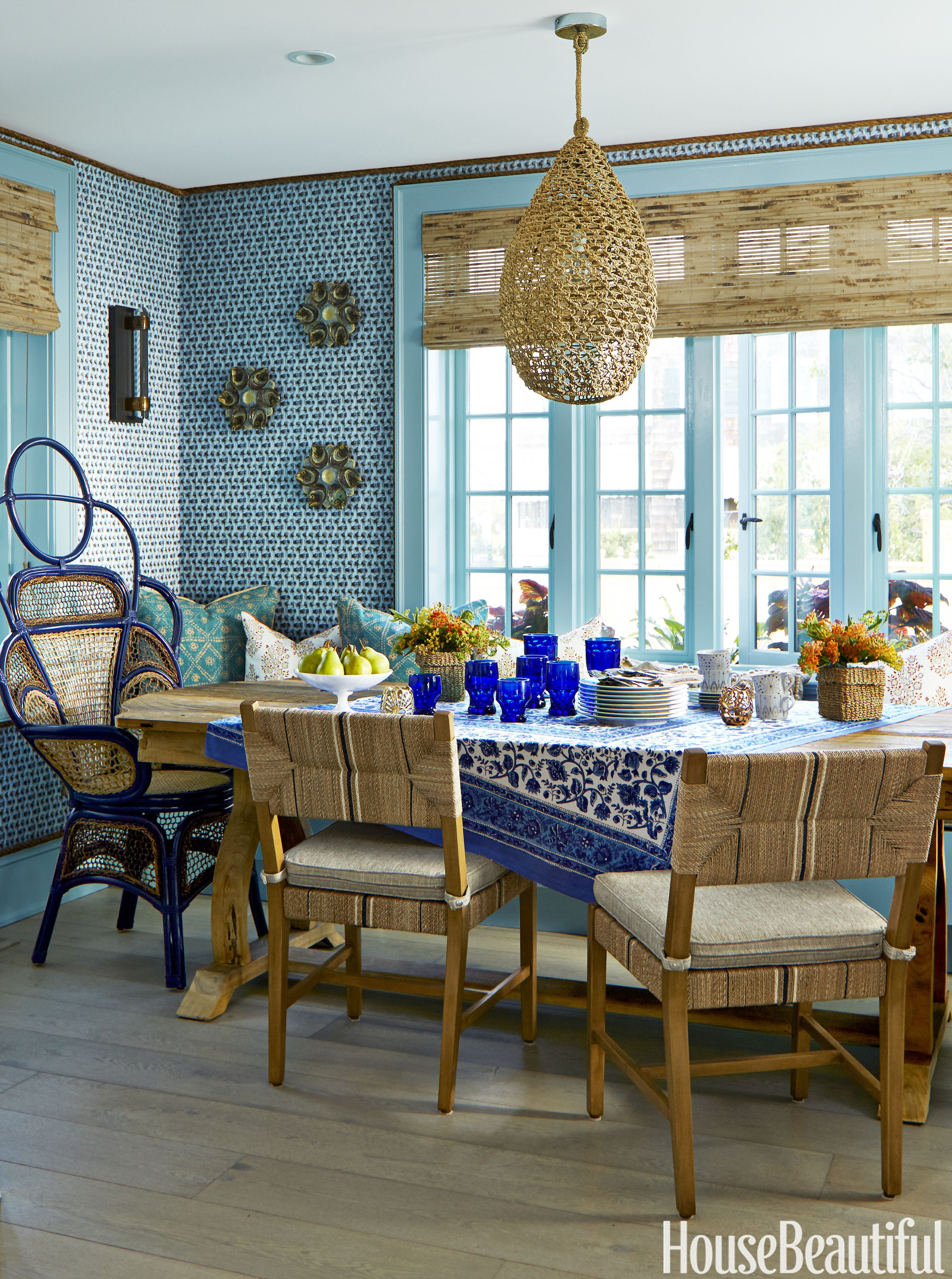 Colleen Bashaw Beach House Blue Dining Room