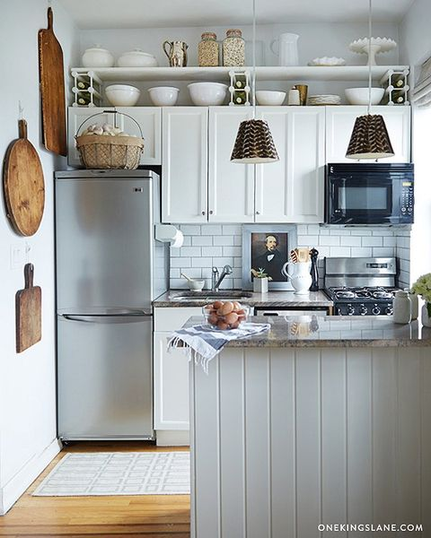 small kitchen design ideas, display cookware