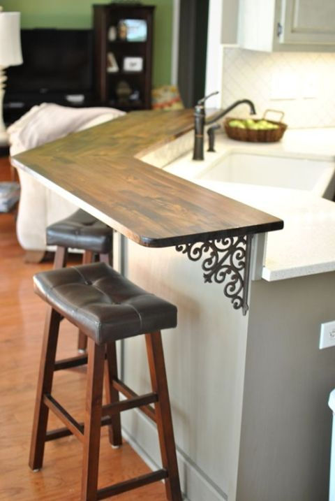 small kitchen design ideas, breakfast bar