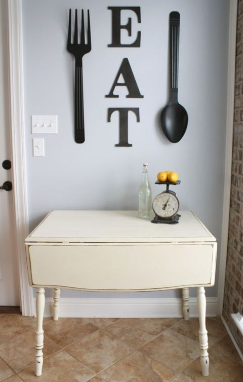 small kitchen design ideas, drop-leaf table