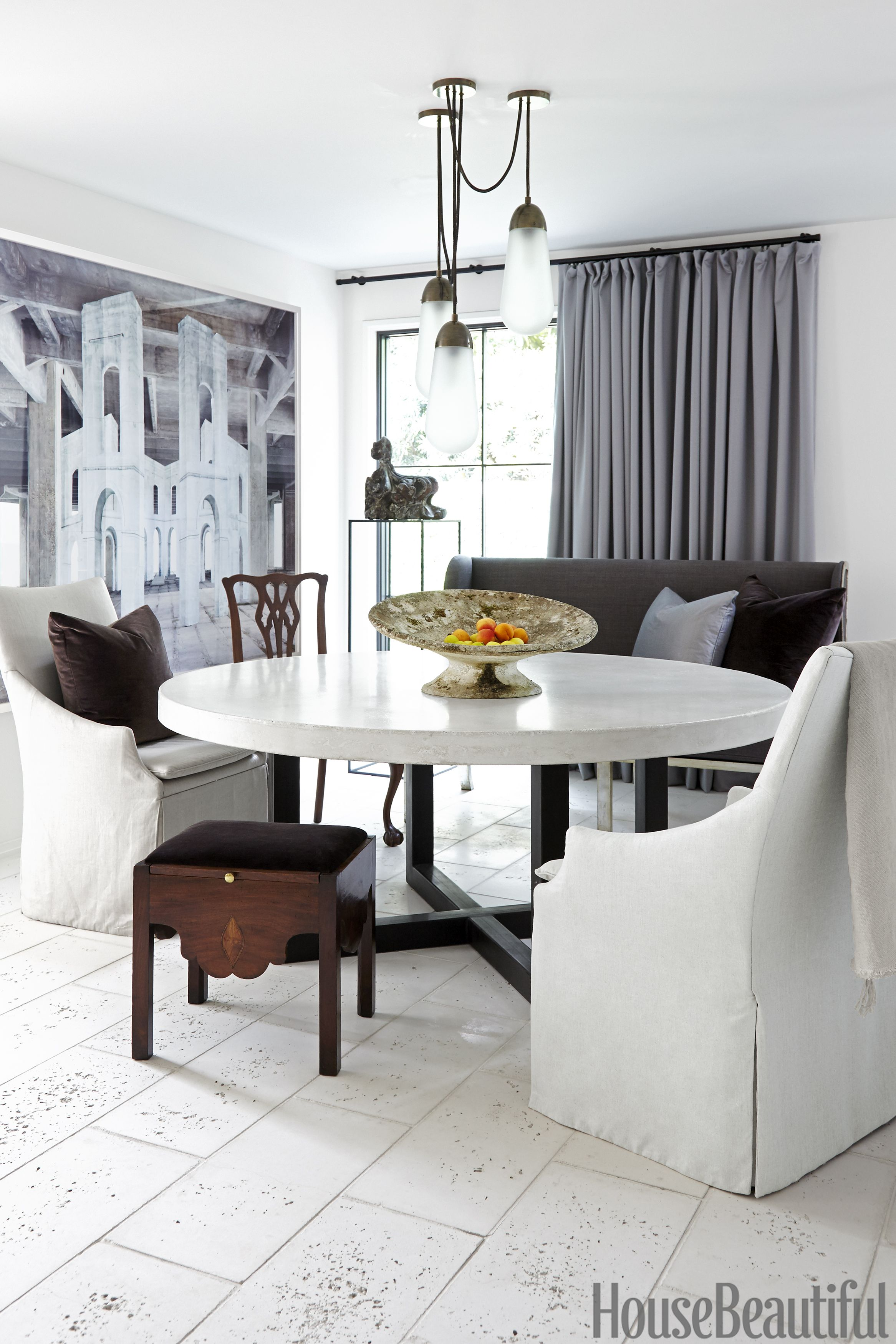 Marvelous Image. Laura Resen. Gray Dining Room