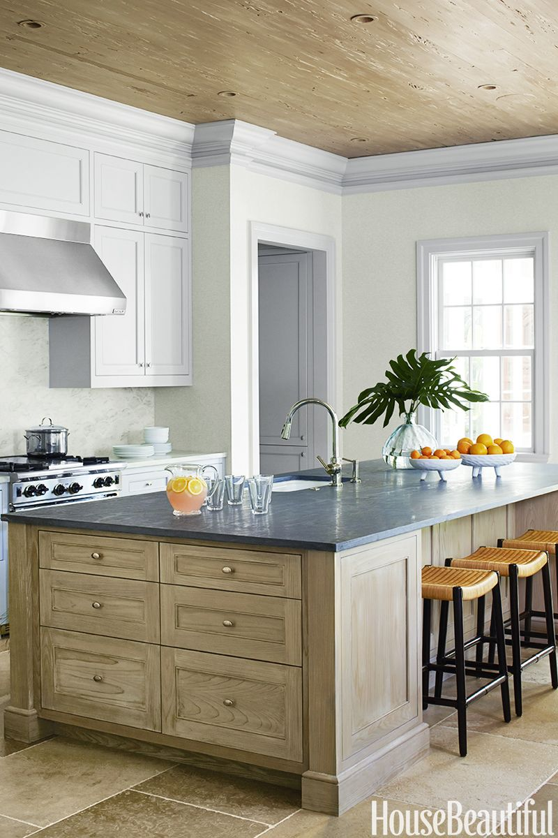 Lovely Green Kitchen Paint Ideas Part - 6: House Beautiful