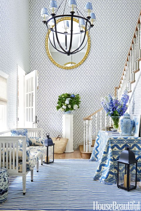 Mark D. Sike Blue and White Entryway