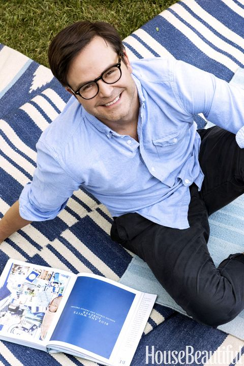Blue And White House Los Angeles Designer Mark D Sikes