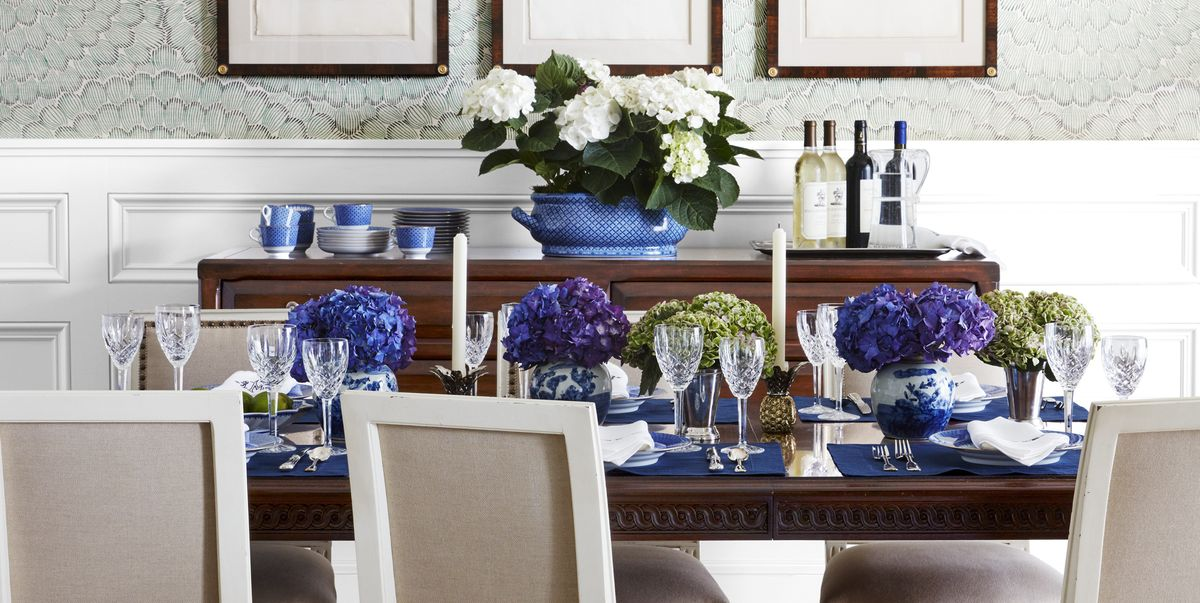 blue dining rooms.  85 Best Dining Room Decorating Ideas and Pictures