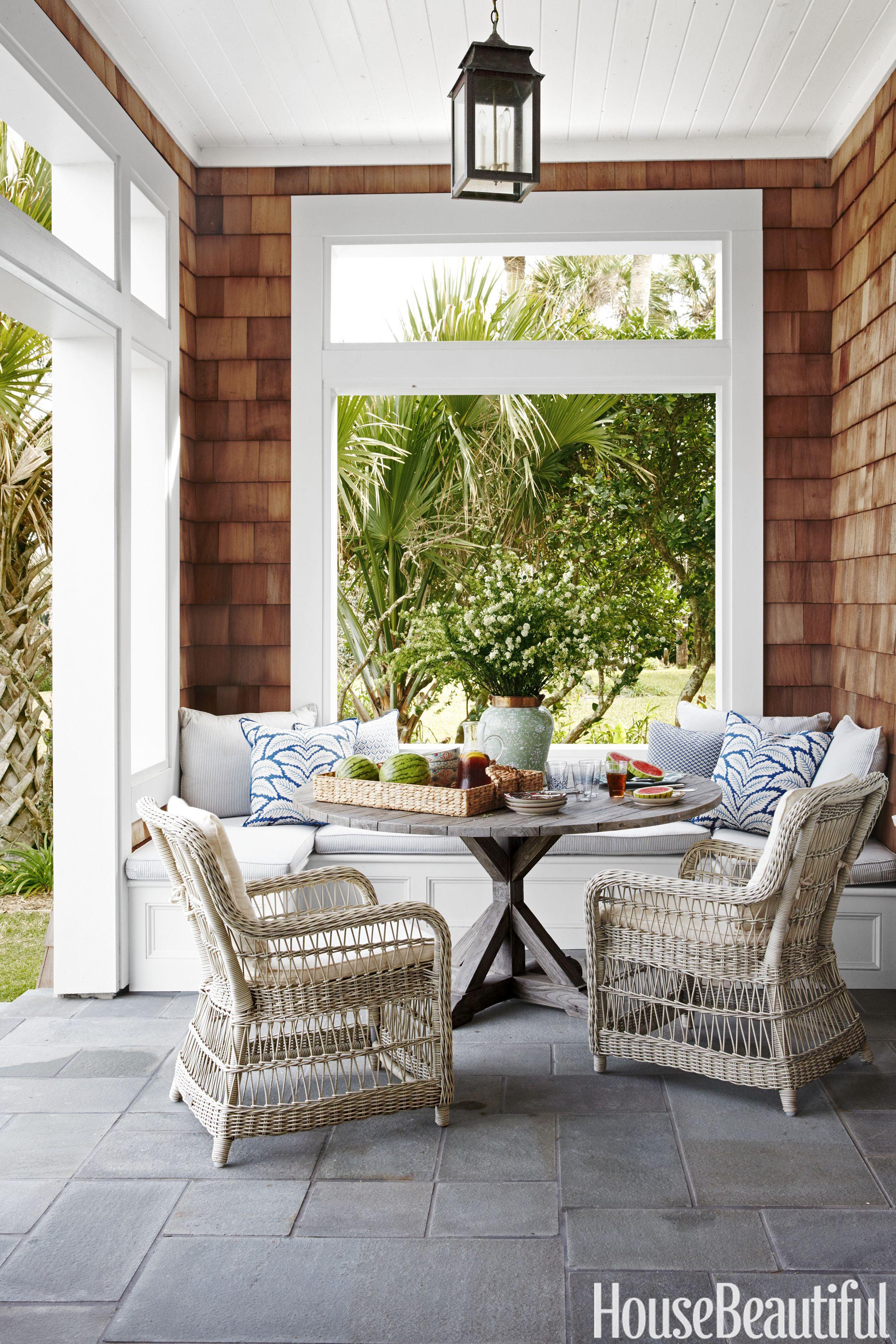 Impressive Backyard Living Room Ideas Set