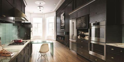Wood, Room, Floor, Interior design, Flooring, Cupboard, Ceiling, Wall, Drawer, Furniture,