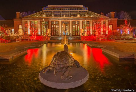 Night, Reflection, Landmark, Midnight, Electricity, Tourist attraction, Reflecting pool, Symmetry, Classical architecture, Landscape lighting,