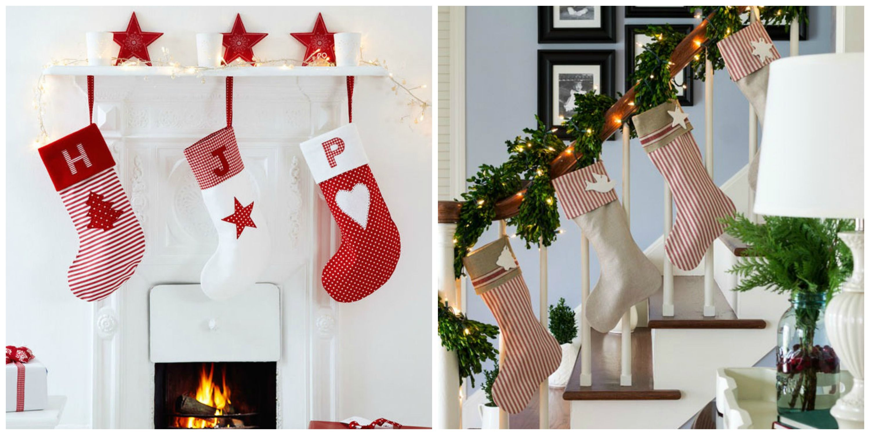 Monogrammed Christmas Stockings Part - 26: House Beautiful