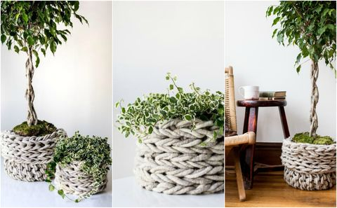 These Baskets Are the Epitome of the Chunky Knit DIY Trend