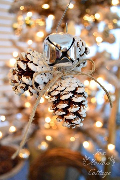 pinecone ornament - Pine Cone Christmas Tree Decorations