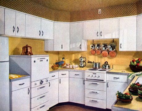 How The Kitchen Has Changed Over 100, American Kitchens Metal Cabinets