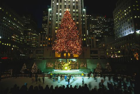 Christmas decoration, Metropolitan area, City, Night, Metropolis, Landmark, Holiday, Tower block, Urban area, Electricity,