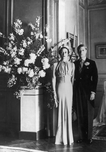 <p>Wallis Warfield Simpson, an American socialite, met Prince Edward, Duke of Windsor (formerly King Edward VIII until his abdication) through his mistress and were eventually married in June 1937.</p>