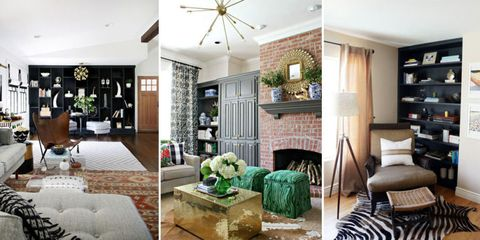 5 Rooms That Prove Black Built-in Bookcases Are the Next Big Thing