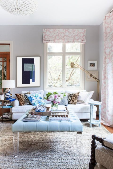 white couch living room. Marta Perez  One Room Challenge White Sofa Trend Couch