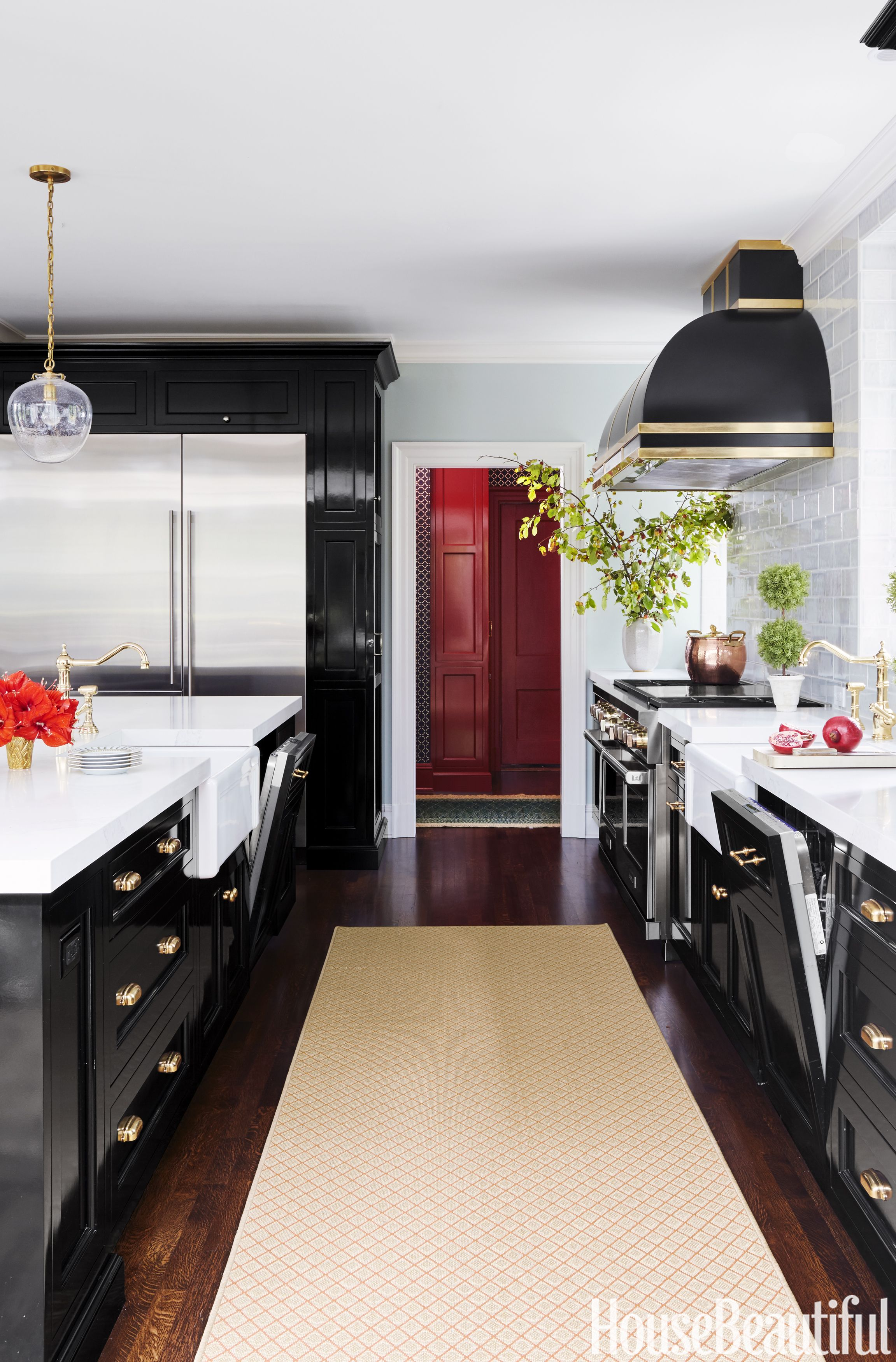 Jim Dove Black Kitchen Cabinets