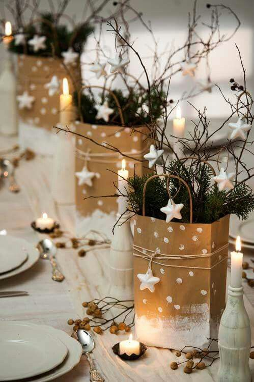 Floral Table Decorations For Christmas  Gift Bags Live Diy Ideas