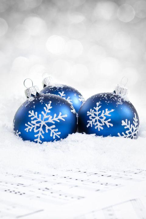 Blue, Azure, Majorelle blue, Cobalt blue, Still life photography, Christmas ornament, Sphere, Holiday ornament, Christmas, Silver,