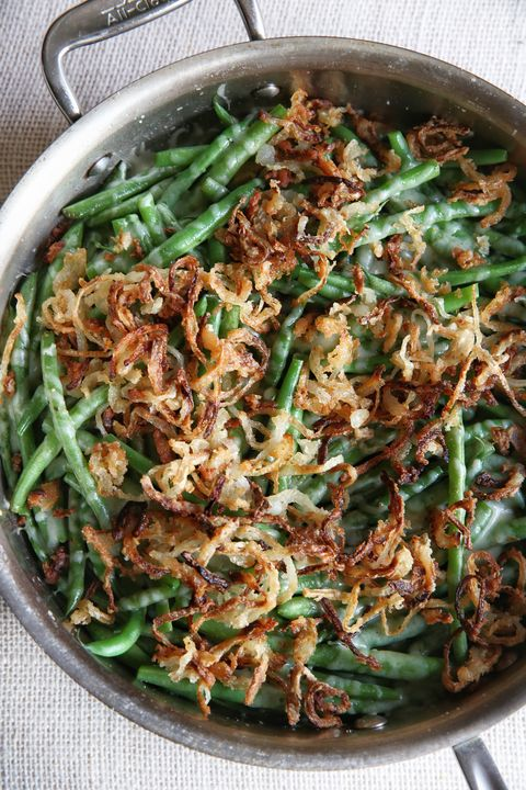 Garlicky Green Beans with Crispy Onions Recipe