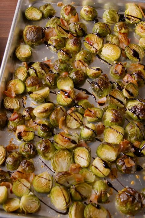 "<p>Another healthy surprise—Brussels sprouts were the second most-searched recipe this year. We prefer ours roasted with bacon and drizzled with balsamic glaze. </p>  <p> </p>  <p>Get the recipes from <a href=""http://www.delish.com/cooking/g1409/brussels-sprouts-recipes/"" target=""_blank"" data-tracking-id=""recirc-text-link"">Delish</a>. </p>"