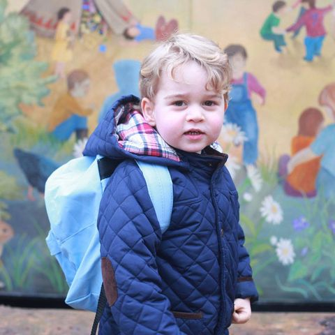 <p>Prince George pictured on his first day of nursery, aged three.</p>