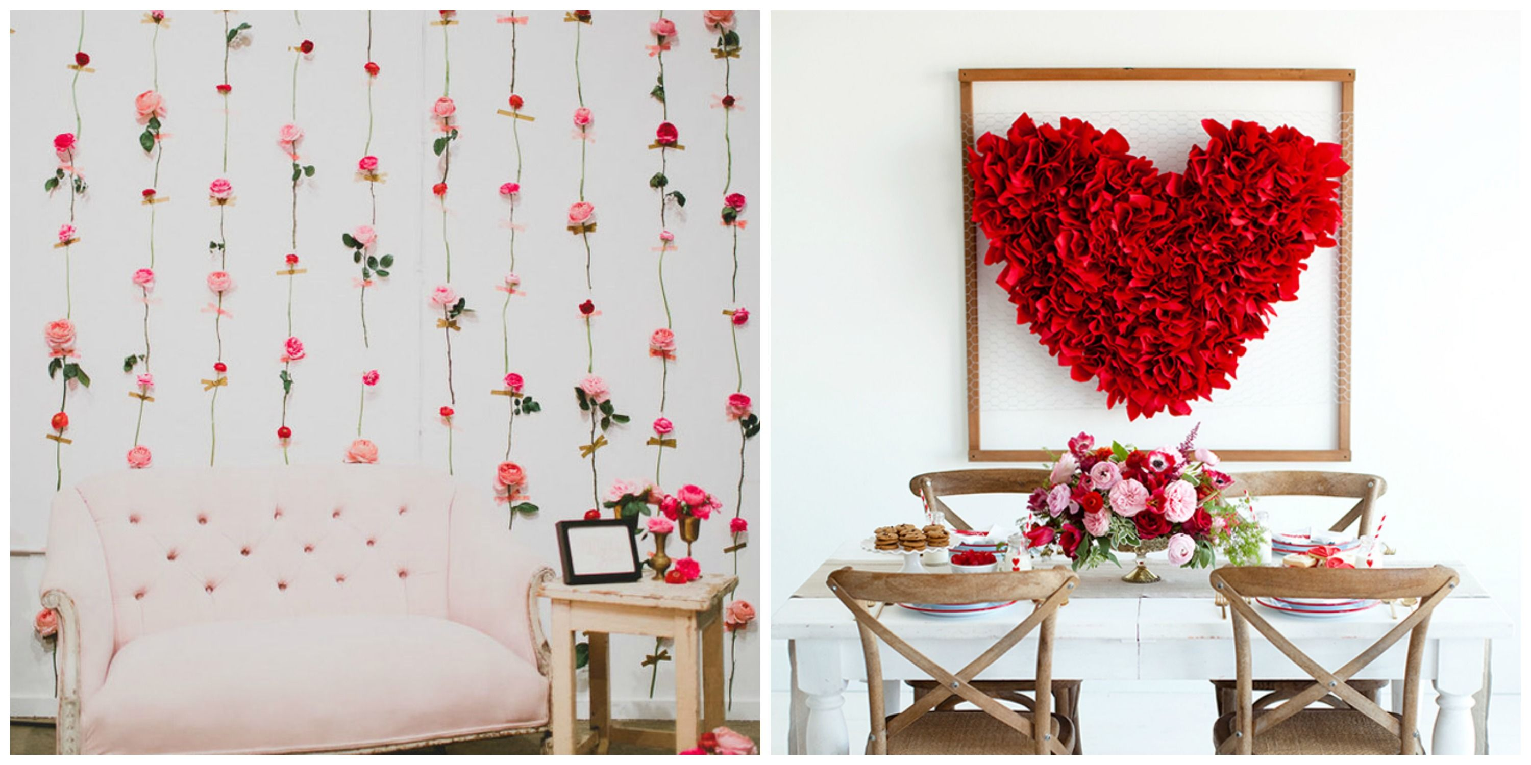 14 diy valentines day decorations best homemade decorating ideas for valentines day - Homemade Valentine Decorations