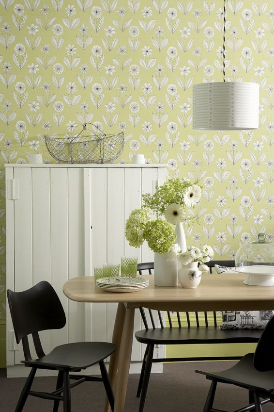 Little Greene 01 Florette Acid Drop wallpaper