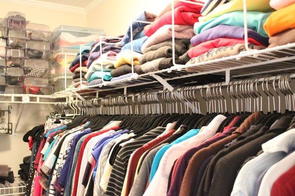 18 idéias de organização de armário que você vai amar