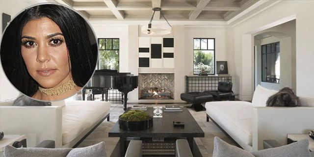 Kourtney kardashian 39 s living room kardashian home tour - Kourtney kardashian kitchen chairs ...
