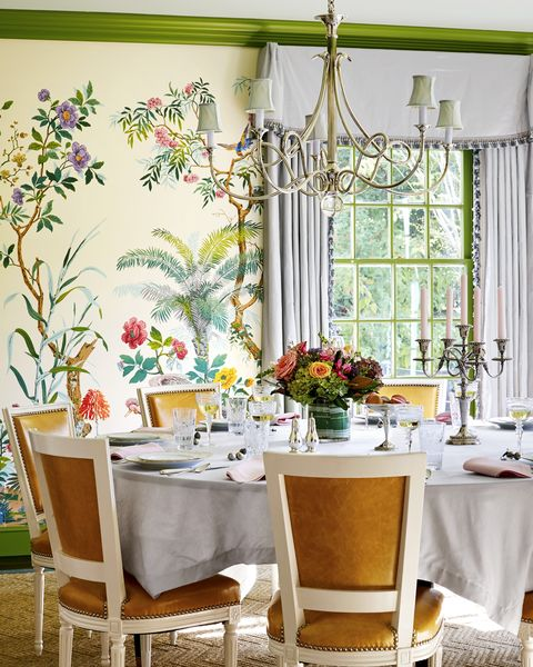 The Dining Room Now Bursts With High Octane Design From Zuber Wallpaper To