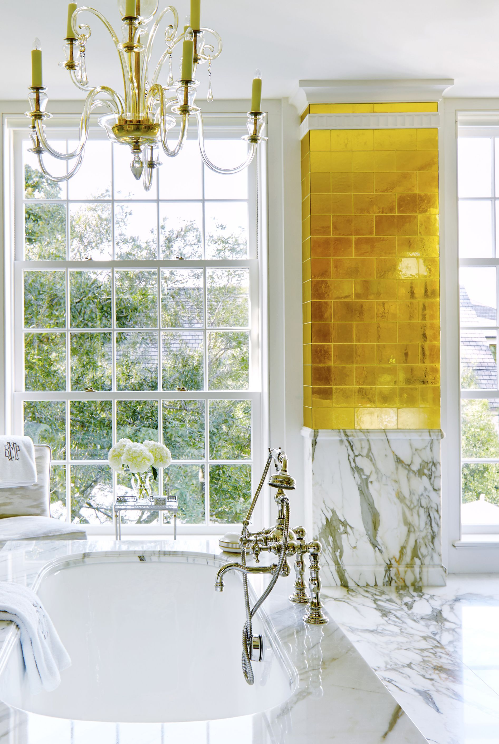 bailey mccarthy gold tile bathroom