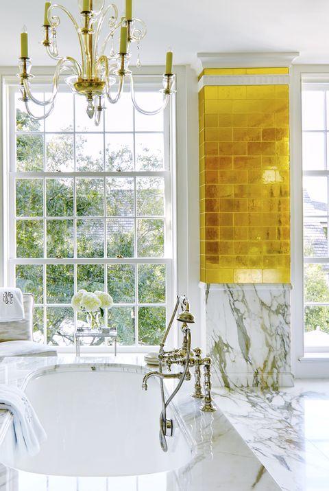 bailey mccarthy gold tile bathroom