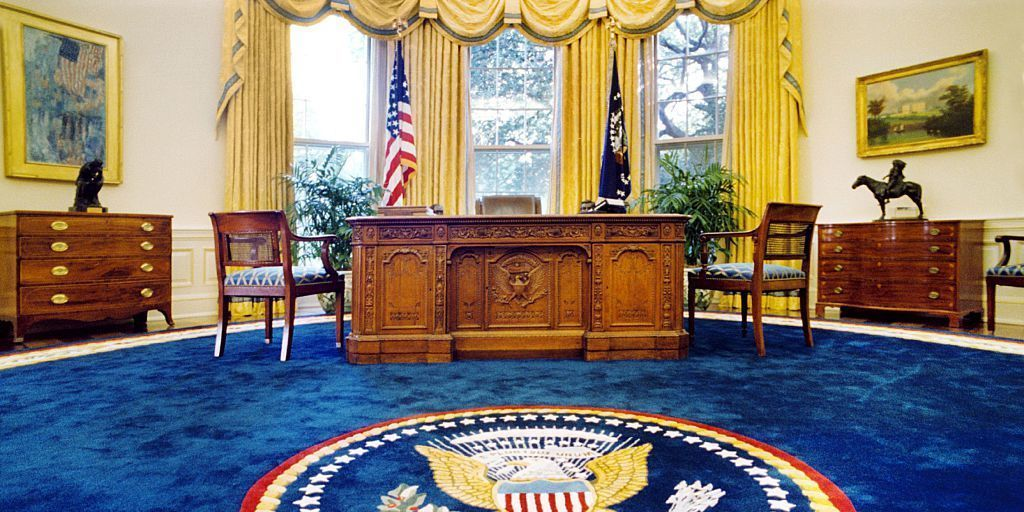President donald trump has started redecorating the oval Oval office decor by president