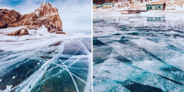 A Photographer Walked on the World's Oldest Lake to Capture Spectacular Images