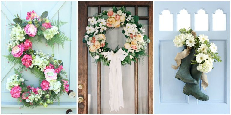 spring front door wreaths30 Spring Wreaths  Easter  Spring Door Decorations Ideas