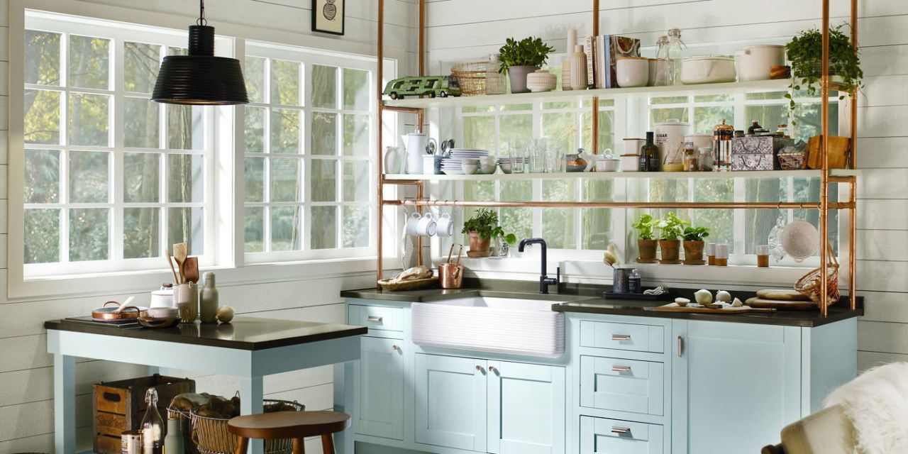 24 unique kitchen storage ideas easy storage solutions for kitchens rh housebeautiful com Narrow Kitchen Cabinets Slide Outs Narrow Depth Kitchen Cabinets