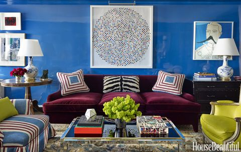 Nick Olsen Blue Living Room