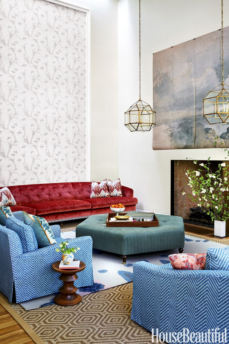 Beautifully Decorated Living Rooms For Christmas: 70 Best Living Room Decorating Ideas & Designs